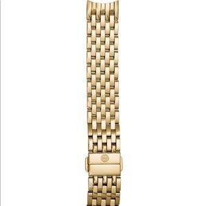 MICHELE 18K Gold-Plated 18mm Bracelet Strap